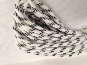 1cm By 30m Double Braided Polyester Rope, White with Black Tracers