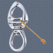 S.S. Quick Release Large Bail Swivel Eye Snap Shackle - Size