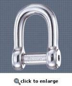 "Stainless Steel Self Locking Allen Head Pin ""D"" Shackle - Size"