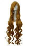 Etruke Anime Long Women Hair Yellow Wave Party Cosplay Wigs