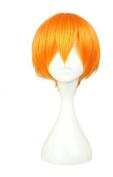 Etruke Short Orange Short Straight Synthetic Hair Lovelive! Rin Cosplay Wigs