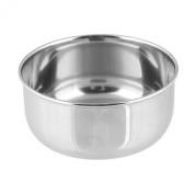 Beauty7 Silver Stainless Steel Shaving Bowl Mug Gift Set for Men Set