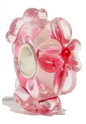 "Murano Glass Beads to Fit Pandora Chamilia and Biagi Bracelets ""Love Pink"