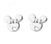 European Fashion Cute Silver Mouse Shaped Gift For Girl Stud Earrings