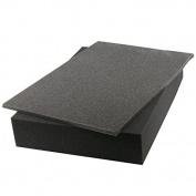 2 Piece Cubed Pick n Pluck Foam Block Insert Ideal for EN-AC-FC-A501 Flight Case