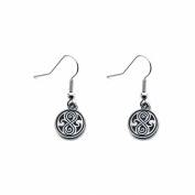 Doctor Who The Seal of Rassilon Dangle Earrings