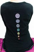 Yogamasti Women's Organic Chakra Yoga Top-100% organic cotton-embroidered chakra detail-beautiful top