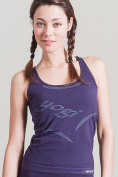 Yoga top -seamless with yogi written in jacard-mesh at the back-stylish breathable and sporty with support