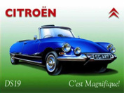 FRENCH VINTAGE METAL SIGN 30x20cm DS 19 CITROEN CABRIOLET
