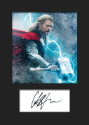 CHRIS HEMSWORTH - THOR #2 Signed Mounted Photo A5 Print