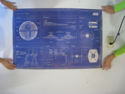 "Star Wars ""Imperial fleet blueprint"" Maxi Poster, Multi-Colour"