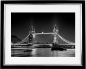 """Tower Bridge Illuminations"" Romantic Cityscape Of Tower Bridge In The City Of London. Black And White Framed Print Photography, Black & White Prints"