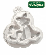 Cat Silicone Mould Katy Sue Designs Sugar Buttons for Clay, Cake Decorating and Sugarcraft