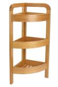 Bamboo Corner Shelf with 3 levels