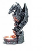 Stone Effect Dragon Candle Holder Fantasy Art