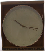 Shiny Copper Trend Rimmed White Marker Faced Wall Clock