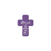 Squeezable Pocket Cross - Blessed - Jeremiah 17:18cm - 3.8cm X 5.1cm