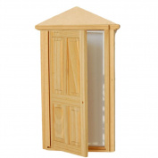 Dollhouse Miniature 4-Panel Exterior Wooden Steeple Door