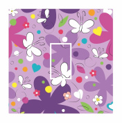 Sticar-it Ltd Beautiful PURPLE Butterfly Pattern Light Switch Sticker vinyl cover skin decal For Children's Room