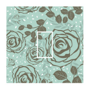 Sticar-it Ltd Duck Egg Blue Modern Rose Floral Pattern Light Switch Sticker vinyl cover skin decal For Any Room