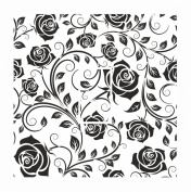 Sticar-it Ltd Black & White Classic Rose Floral Pattern Light Switch Sticker vinyl cover skin decal For Any Room
