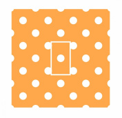 Sticar-it Ltd Orange & White Small Polka Dot Pattern Light Switch Sticker vinyl cover skin decal For Any Room