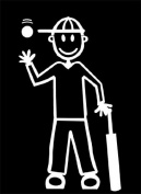 Official My Stick Figure Family Car Window Vinyl Sticker Teen Boy Male Cricket TM6