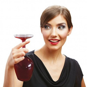 Upside Down Wine Glass 13.2oz / 375ml - Novelty Wine Glass Gift
