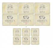 Pimpernel Vin de France, 6 Placemats + 6 Coasters