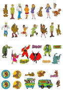 36 Stand Up Scooby Doo Characters Edible Premium Wafer Paper Cake Toppers Decorations