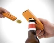 BreaDeep Creative Wine Beer Bottle Opener Flying Cap Launcher with Key Ring - Orange