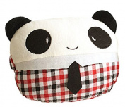 TheWin Red Grid Girl Panda-Shaped Neck Support Pillow