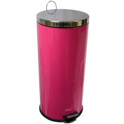 Home Discount 30 Litre Pedal Bin In Pink With Inner Bucket.