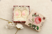 LUXEHOME 100% Nature Essential Oil Handmade Guest Soaps Gift Set, 1 Pair per Package, Romantic Rose Style, Each Soap 110ml