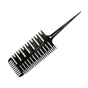 ProStylingTools 3-Way Weaving & Sectioning Foiling Comb for Hair Colouring, Highlighting, Balayage, Microbraiding & More