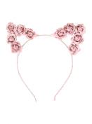 LOVEsick Pink Rose Cat Ears Headband
