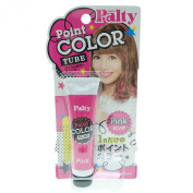 Dariya Palty Point Coloration Tube 15g (15ml) Pink Japanese Cream Type Hair Colour Chalk Temporary Instant Touch Up One Day Highlights Hair Colour Dye Japan Import Made in Japan