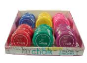 Malibu Glitz Hair Colouring Tools 6 Colours Hair Chalk 24 pcs