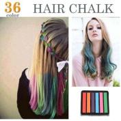 6 Colours Non-toxic Temporary Hair Chalk Dye Soft Pastels Salon Kit Show Party