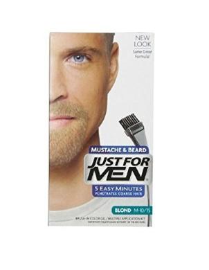 Just For Men Brush-In Colour Gel for Moustache & Beard, Blond M-10/15