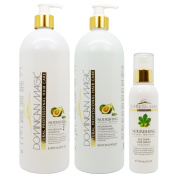 "Dominican Magic Nourishing Shampoo & Conditioner 950ml & Silk Shine Serum 180ml ""Set"""