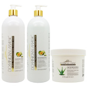 "Dominican Magic Nourishing Shampoo & Conditioner & Revitalising Hair Mask 950ml ""Set"""