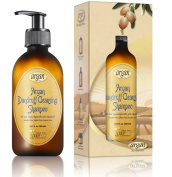 Dandruff Cleansing Argan Hair Shampoo - Exclusive Herbal Oils Blend Sulphate & Paraben Free Shampoo 300ml - Deeply Cleanses Flake Residues, Nourishes & Promotes Healthy Hair