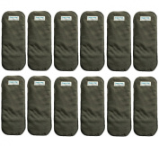 (Pack of 12) HappyEndingsTM 5 Layer Charcoal Bamboo Inserts for Cloth Nappies
