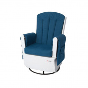 Foundations Worldwide SafeRocker Standard Glider Rocker, White/Blue