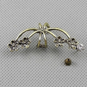 2 Pieces Earrings Ear Earring Supplies Hooks Stud Cuff Clip Punk XF182B Left Side Plum