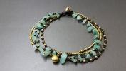 Jade Brass Chain Anklet