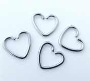 Daith Hearts Cartilage piercing Rings, FOUR Steel Heart hoops for cartilage, daith, ears
