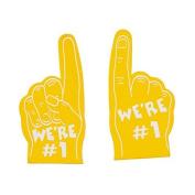 Team Spirit Yellow Mini Foam Fingers (12 Pack) Foam 13cm
