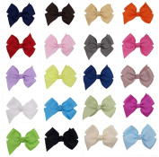 Boutique 10cm Large Toddler Girls Baby Hair Bow Clips Colour Assorted